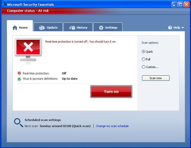 how to disable microsoft virus protection