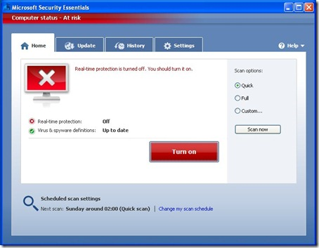 Microsoft Security Essentials - At Risk